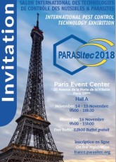 INVITATION PARASITEC PARIS 2018 EXIBITHION