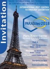 INVITATION PARASITEC PARIS 2018 EXIBITHION